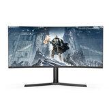 BlitzWolf® BW-GM3 34-calowy zakrzywiony monitor do gier 165 Hz WQHD 3440 x 1440 Rozdzielczość 300 cd / ㎡ 1500R Krzywizna 21: 9 Bring-Fish-Screen 120% sRGB Kolorowy monitor do gier w biurze domowym