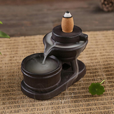 逆流円錐バーナーホルダーセラミックストーンミルク香りのある煙逆流の香炉の装飾