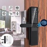 Huella digital electrónica de aleación de aluminio de 5 V cerradura Puerta inteligente cerradura cerradura Puerta antirrobo de dormitorio cerradura Contraseña cerradura