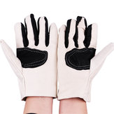 KALOAD 1 Pair Double Layer Thicken Canvas Work Welding Gloves Wearproof Non-slip Security Labor Protection Gloves