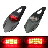 Motorcycle Fenders 12 LED Lamp Stop Break Rear Tail Red Light Universal
