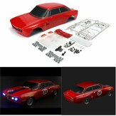 Killerbody 48319 Alfa Romeo 2000 GTAm Body Shell Red Semi-Finished for 1/10 Electric Touring Car