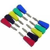 50/100 قطع P3002 أحمر + أسود + أخضر + أزرق + أصفر 4 ملليمتر تكويم النيكل مطلي رئيس المتعدد Banana Plug موصل اختبار مسبار ملزم
