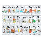Alfabe Duvar Kağıdı Sticker Çocuk Bilişsel Hayvanlar Erken Eğitim Eğlenceli Öğrenme Ev Ev Dekorasyonu