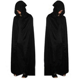 Volwassene Halloween Party Cosplay Kleding Lange Zwarte Hooded Cloak Dood Big Cloak Cosplay Devil Cloak