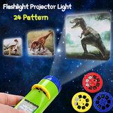 Kids Cartoon 24 Dinosaur proiettore Torcia Baby Sleep LED Progetto lampada Giocattolo