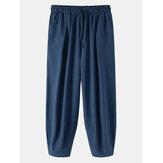 Erkek Düz Renk İpli Günlük Harem Pantolon Cepli