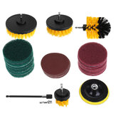 34pcs Cleaning Drill Brush Tub Clean Electric Grout Power Scrubber Cleaning Combo Tool Kit