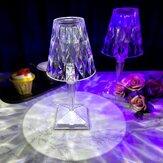 LEDダイヤモンドクリスタルプロジェクションRGBデスクランプリモコン16色USB充電レストランバー装飾テーブルライトロマンチックなナイトランプ