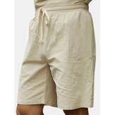 Große S-4XL Chinese Wind Cotton Leinen Knielange Short