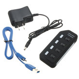 4 Ports USB 3.0 Super Speed Hub with On Off Switch AC Power Adapter For Mac OS Linux Systems