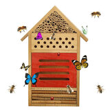 Insect Bee House Wooden Bug Room Hotel Shelter Garden Outdoor Nest Box Decorations