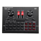 V8X PRO Externe Audio-Mixer USB-Schnittstelle Soundkarte mit 15 Soundmodi Mehrere Soundeffekte