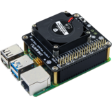 Raspberry Pi 4B Development Board Cooling Fan Suitable for RaspberryPi Turbo Fan with LED Ambient Light