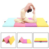 118x47x2inch Folding Yoga Mats PU Leather Gymnastics Mat Floor Dancing Exercise Training Pad