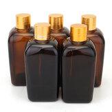 Essential Yağ Parfüm için 5 Adet Amber Cam Şişeler