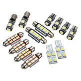 14Pcs T5 Car LED Interior Reading Lights Festoon Dome Bulb Kit الأبيض استبدال لشركة فولكس فاجن
