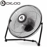 Digoo DF-101 10 inç Büyük Tam Siyah Metal Elektrik Dönebilen USB Şarj Edilebilir 18650 Batarya Serin Danışma Fan