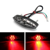 Motorcycle 15 LED Rear Tail Brake Stop Running Turn Signal Light Universal