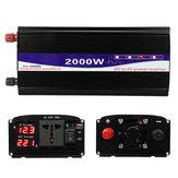 2000 W Tepe 12 V / 24 V / 48 V için 220 V Saf Sinüs Dalga Güç Çevirici Dijital Ekran Ev Dönüştürücü