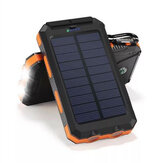Bakeey 20000mAh Dual USB DIY Solar Power Bank Case Kit med LED-lyskompass