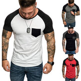 Men's Casual Printed T-shirt Slim Fit T-shirt Short-sleeved Sports Crew Neck Tops Men Clothing