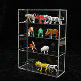 214 x 159 x 59 mm Vier lagen acryl display box Showcase schuifdeur voor mini parfumflesje