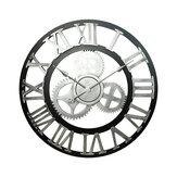 Vintage Handmade Relógio Grande Parede de Engrenagem Relógio Decoração Rústica de Madeira de Arte de Luxo