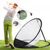 Rede de prática de lascar de golfe Rede de treinamento de golfe dobrável Rede de gaiolas de golfe líquida Rede de prática de golfe