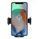 العالمي 10W 7.5W 5W ذكي Qi اللاسلكية سريع شحن السيارات قفل السيارات جبل حامل ل Samsung موبايل هاتف