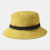 Cappello da pescatore pieghevole con fibbia automatica colletto Cappello da pescatore traspirante giallo Cappello da pescatore