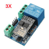3Pcs ESP8266 12V WiFi Relay Networking Smart Phone Phone APP Controle Remoto Switch