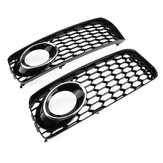 Mistlamp Lamp Cover Grille Grill Honingraat Hex Chrome Zilver Voor Audi A5 S-Line S5 B8 RS5 2008-2012