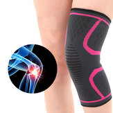 KALOAD 1 Pair Knee Pad Fitness Running Cycling Nylon Elastic Knee Support Non-slip Warm Protective Brace