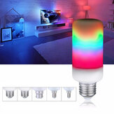 E27 E14 E26 E12 B22 7W Flame Effect 2835SMD 3 modalità LED Rainbow Light Bulb AC85-265V