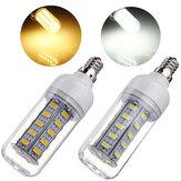 E12 7W 650LM Beyaz / Sıcak Beyaz 5730 SMD 36 LED Mısır Işığı Ampul 110V