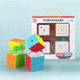 QiYi 4 stks Magic Cube Set 2x2 3x3x3 4x4x4 5x5x5 Speed Cube voor Brain Training kinderen Onderwijs Concurrentie Speelgoed