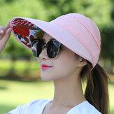 Cappello Visiera per protezione UV pieghevole per donna
