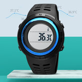 SKMEI 1681 Body Ambient Temperature Monitor Date Week Luminous Display Chronograph Waterproof Fashion Universal Digital Watch
