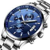 CRRJU 2214 Business Style Men Full Steel Quartz Watch
