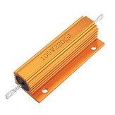 RX24 100 W 220R 220RJ Metal De Alumínio Caso Resistor De Alta Potência De Metal Dourado Shell Caso Resistor Resistência Do Dissipador