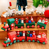 Christmas Wood Train Christmas Decorations Decor Innovative Gift for Children Diecasts Speelgoed Vehic