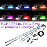 4X Under Coche Kit de luz de tira de tubo de neón 60 / 90cm LED Underglow Underbody 12V UK