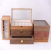 6/10/12 Slot Solid Wood Watch Box Tampilan Organizer Perhiasan Storage Case
