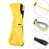 7000 Lbs 50Ft Giallo Sintetico Verricello Corda Towing Rope ATV Winch Linea 1/4 Inch