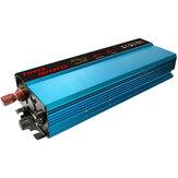 Onduleur d'énergie solaire à onde sinusoïdale pure de crête 6000W 12/24V DC à 110V AC convertisseur affichage numérique