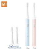 2 uds Xiaomi Mijia T100 cepillo de dientes eléctrico sónico Mi Diente inteligente Cepillo Colorful USB recargable IPX7 Impermeable + 2 cabezales de repuesto
