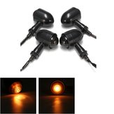 4x Mini Turn Signal Blinker Lights Bulbs & Bracket Para Harley Cafe Racer Bobber Chopper