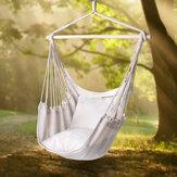 Açık Eğlence Salıncak Sandalye Kapalı Sallanan Sandalye Kampçılık Yürüyüş Piknik Için Tuval Hamak-Beyaz