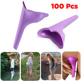 IPRee® 100 Pcs Portable Outdoor Female Urinal Toilet Soft Silicone Travel Stand Up Pee Device Funnel